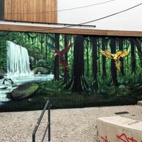 Front garage mural in Lisbon