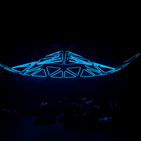 Immersive dome installation with lights
